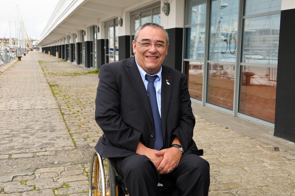 Gérard Masson, président de la FFH à La Rochelle, le 14 avril 2012