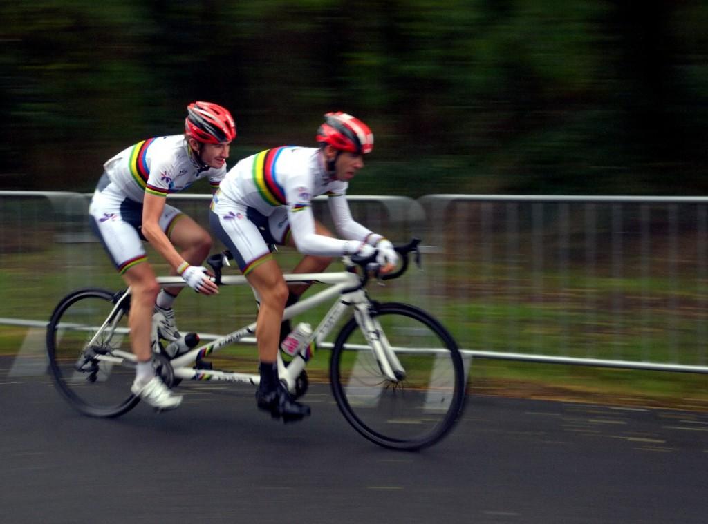 Olivier Donval et John Saccomandi - 39e Trophée handisport - samedi 20 octobre à Montlouis (Indre-et-Loire). Crédit : Armand Thiebaud.