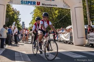 Tandems ASLAA au trophée cycliste handisport de Montlouis - Photo de Jean Montagne.