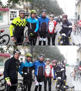 De gauche à droite : Xavier, Ludovic, Régis, Mériam et Abdel. Photo du bas : Mathieu à la place de Xavier. Crédit : Xavier Loir