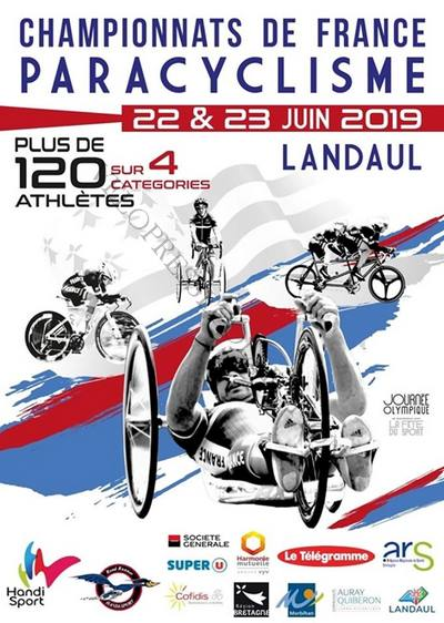 Affiche du championnat de France de paracyclisme 2019