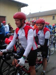 Raphaël et Denis au départ de la course en ligne